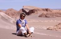 Dans la vallée de la Lune, Atacama, Chili