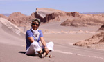 Dans la Vallée de la Luna, Atacama, Chili