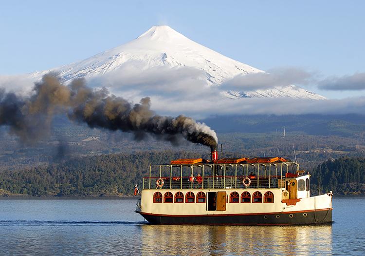 Excursion en bateau à vapeur lac Villarica