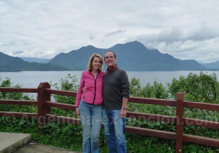 Pause photo au bord du lac Villarrica