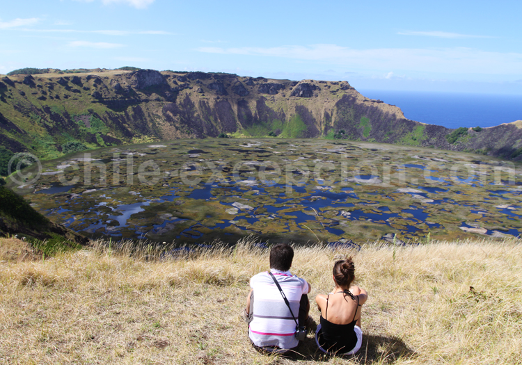 Volcan Rano Kau, île de Pâques