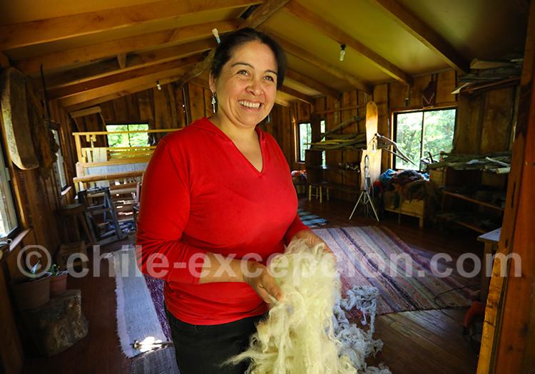 Visite atelier traditionnel de textile mapuche