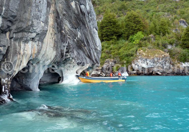 Excursion nautique Chapelles de marbre, lac Général Carrera