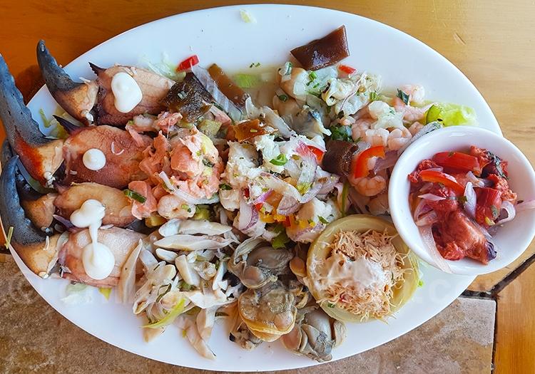 Plat de fruits de mer du Chili
