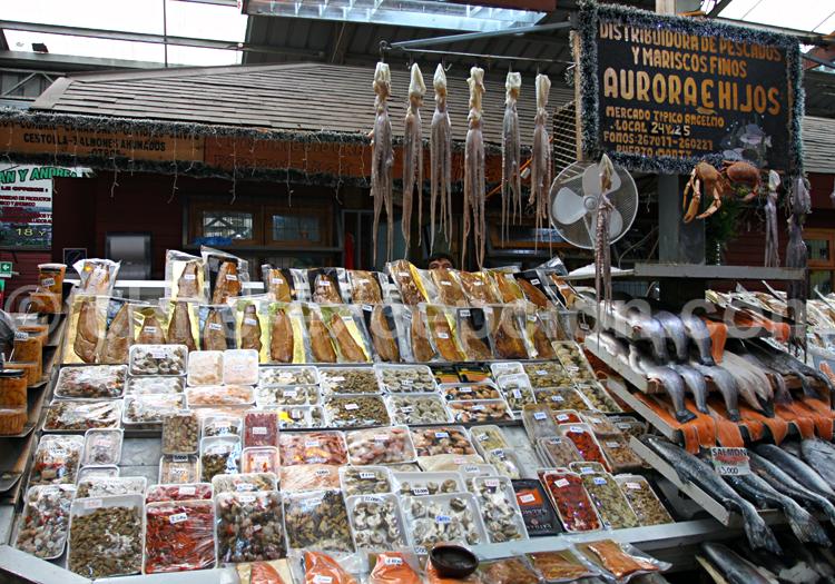 Marché de poisson chilien, Angelmo