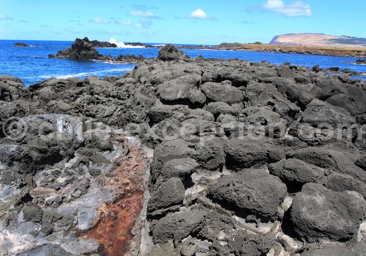 Formation rocheuse issue d'une éruption volcanique