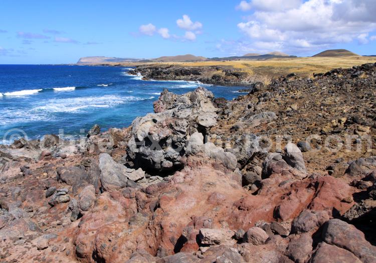 Flot de lave séchée, Rapa Nui