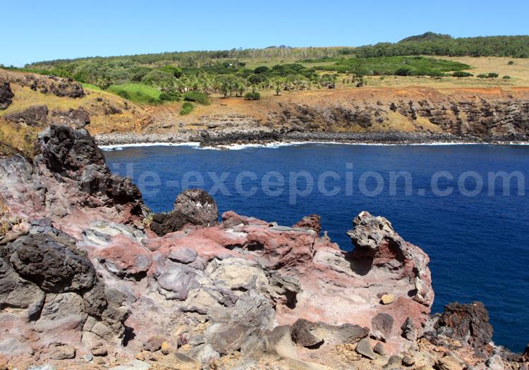 Coulée de lave séchée, Ile de Pâques