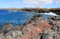 Matière volcanique, île de Pâques