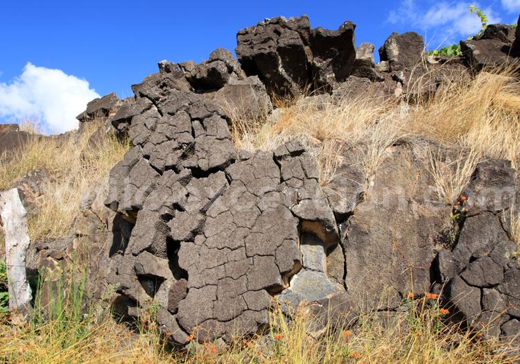 Roche volcanique, île de Pâques