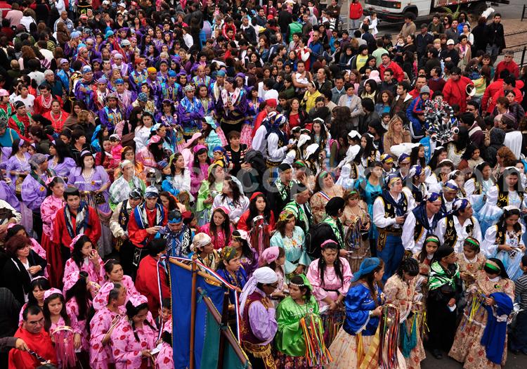 Célébration de la vierge Carmen de la Tirana