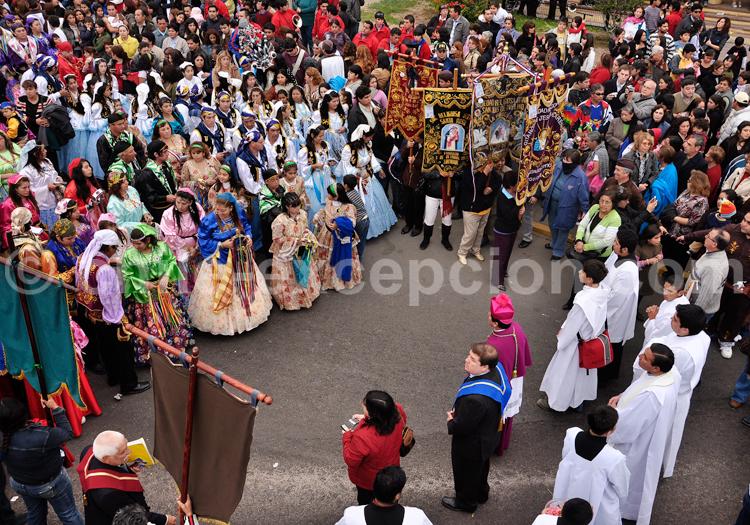 Fête religieuse au Chili