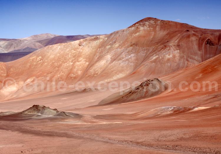 Formations géologiques de l'Altiplano chilien