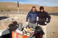 Déjeuner à Atacama