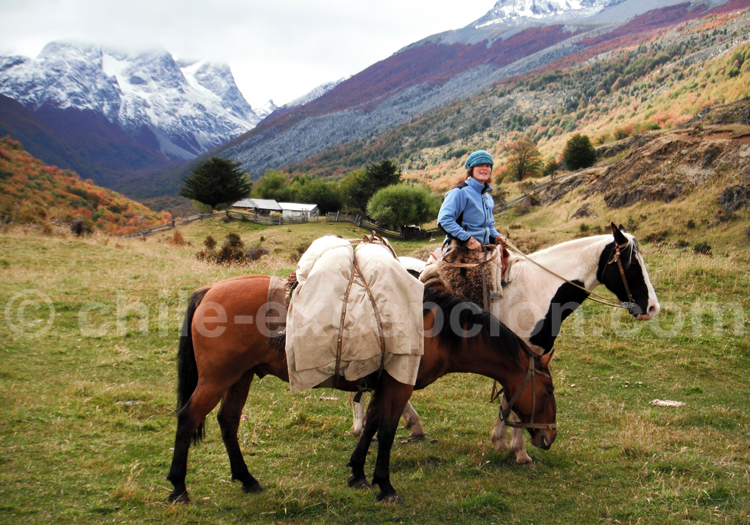 Vallée chilienne à cheval