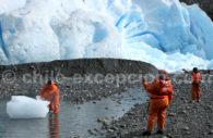 Au pied du glacier Santa Ines