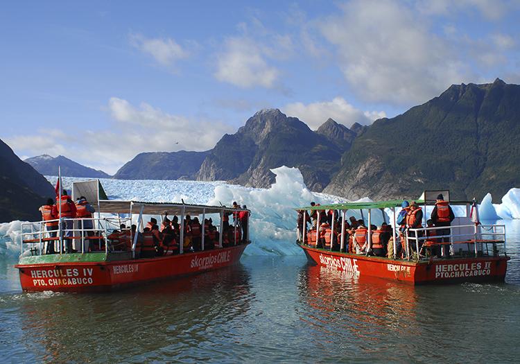 Navigation au glacier San Rafael