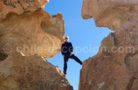 Pierre dans le désert de Siloli