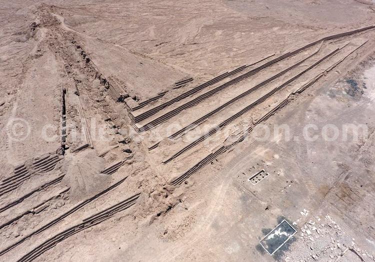 Vue aérienne, Atacama- Crédit Bernard Courtois