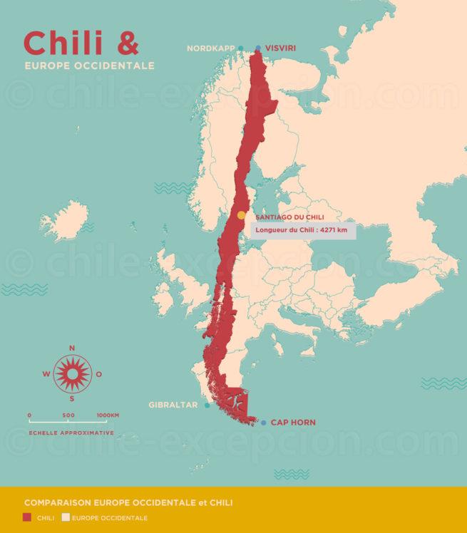 Carte Europe-Chili