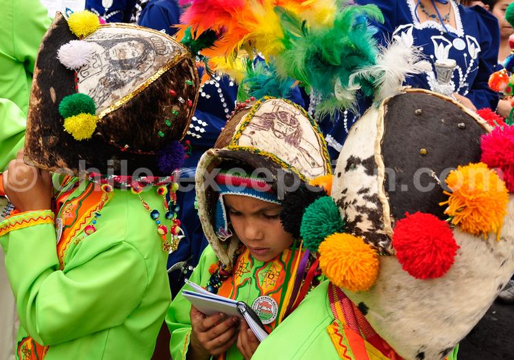 Fête traditionnelle, enfants du Chili
