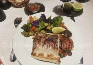 Espadon (Albacora) et légumes grillés