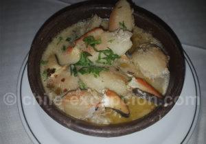 Pinces de crabes du Chili