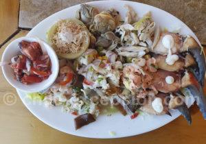 Plat de fruits de mer et de poissons du Chili