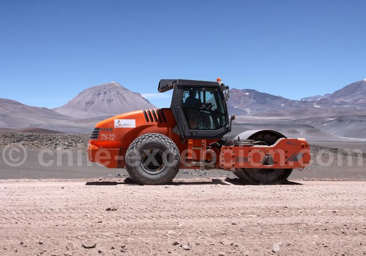 Travaux sur les routes chiliennes