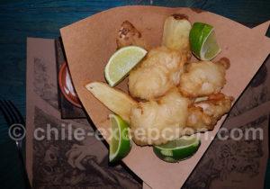 Merlu austral frits, plat typique du Chili