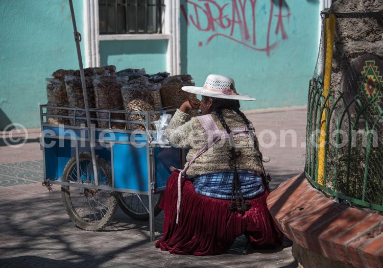 Scène de rue en Bolivie