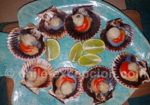 Plat de pétoncles chiliens
