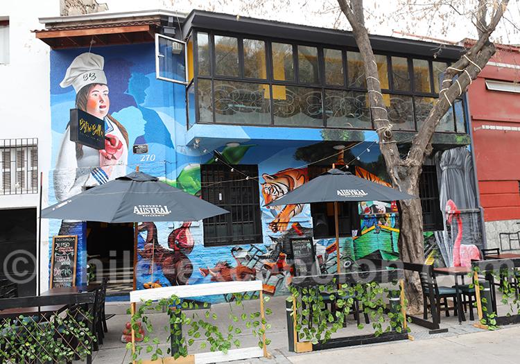 Art de rue à Bellavista, quartier de restaurants