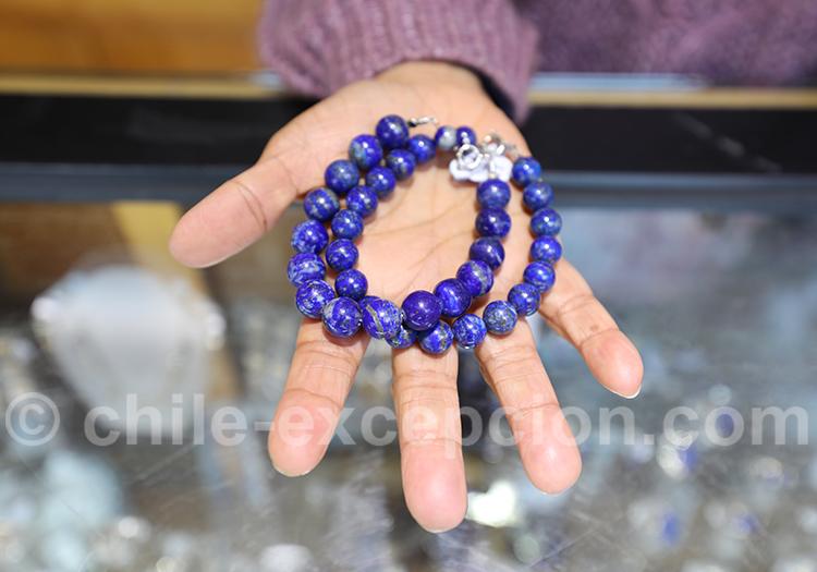Bracelet en lapis Lazuli, Santiago du Chili
