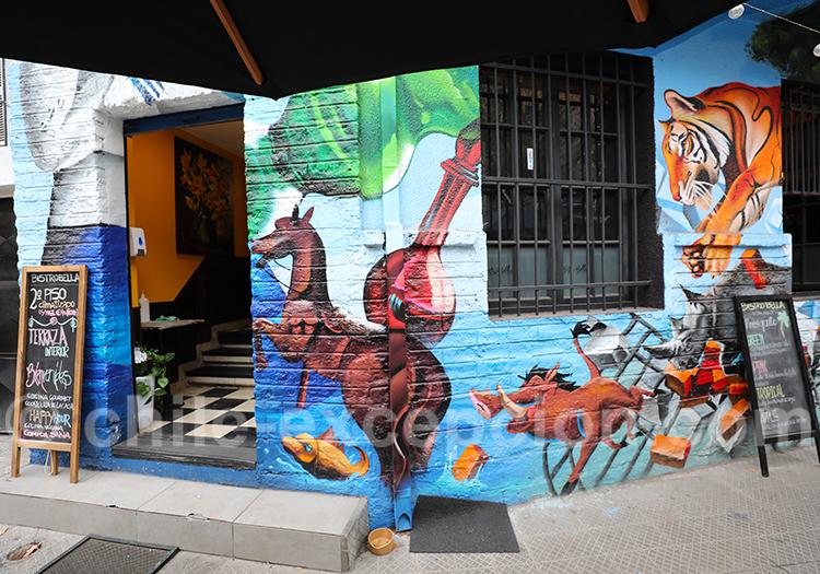Fresque murale d'un restaurant de Bellavista
