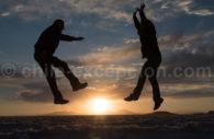 Atardecer à Uyuni