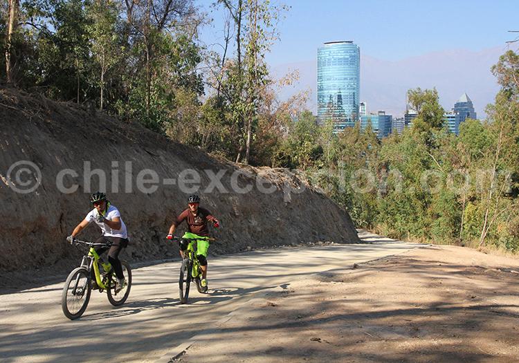 Détente au Parque Metropolitano, Santiago de Chile