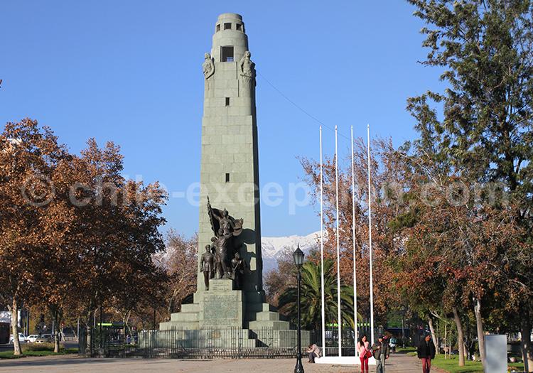 Monument Parque Forestal, Santiago de Chile