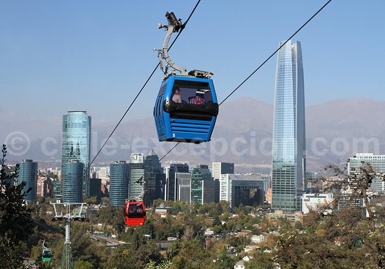 Parque Metropolitano en telephérique, Santiago de Chile