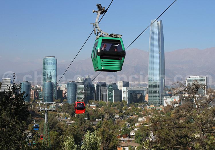 Parque Metropolitano en funiculaire, Santiago de Chile