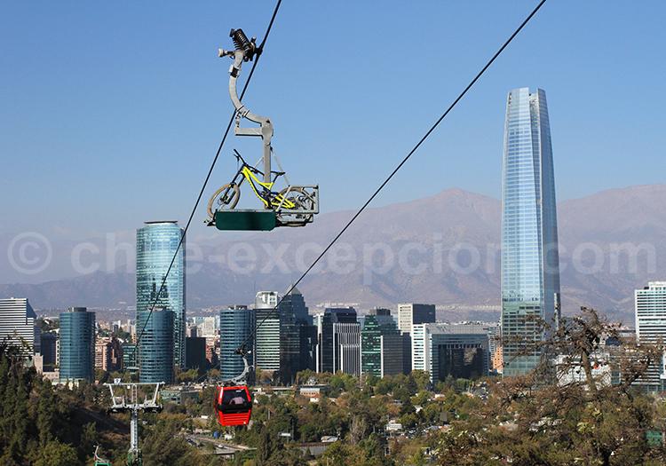 Parque Metropolitano en vélo, Santiago de Chile