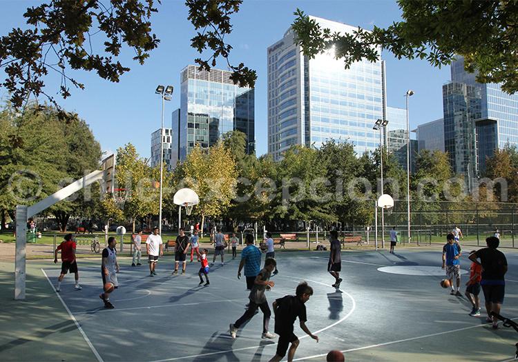 Événement sportif au Parque Araucano, Santiago de Chile