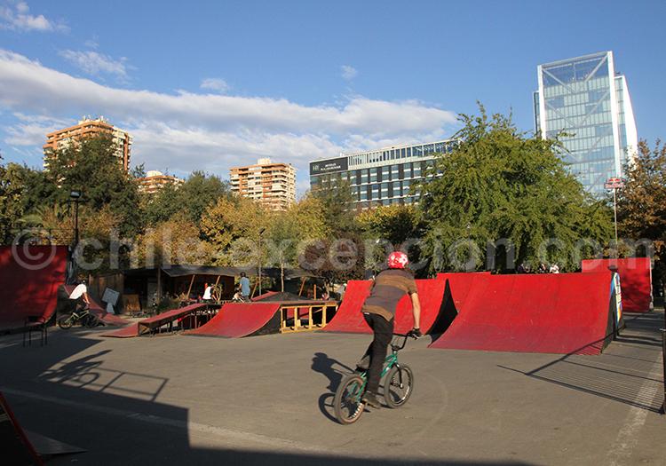 Bike parc, Las Condes, Parc Araucano, Santiago de Chile
