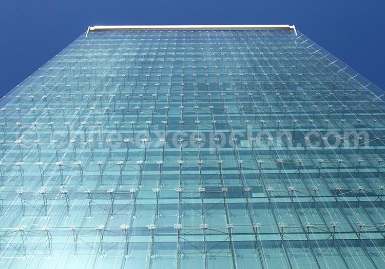Architecture urbaine en verre, Los Militares, Santiago