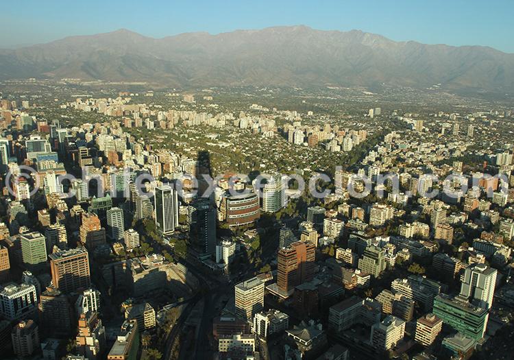 Vue panoramique de Santiago de Chile