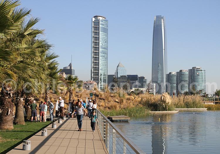 visite libre du Parque Bicentenario, Santiago de Chile