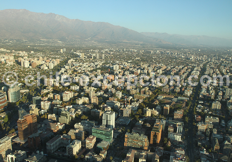 Vue panoramique de providencia, Santiago de Chile