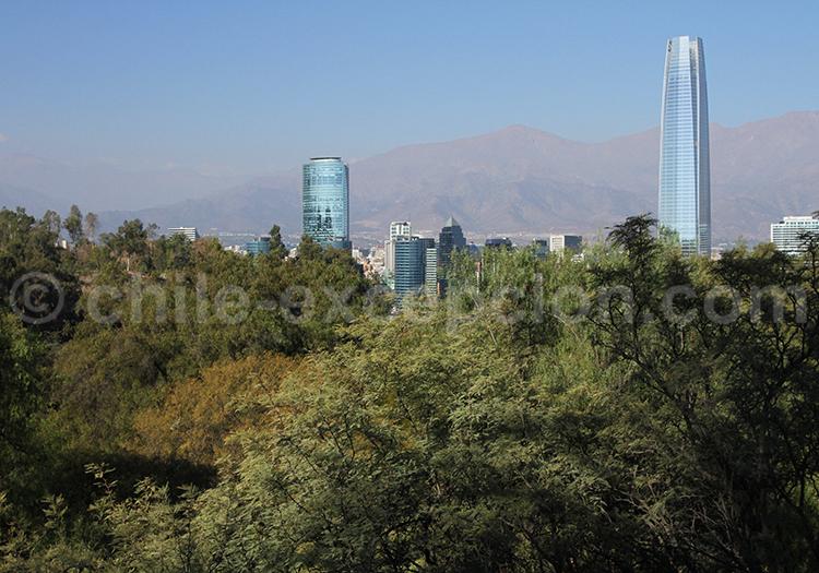 Vue panoramique de Santiago, Parque Metropolitano