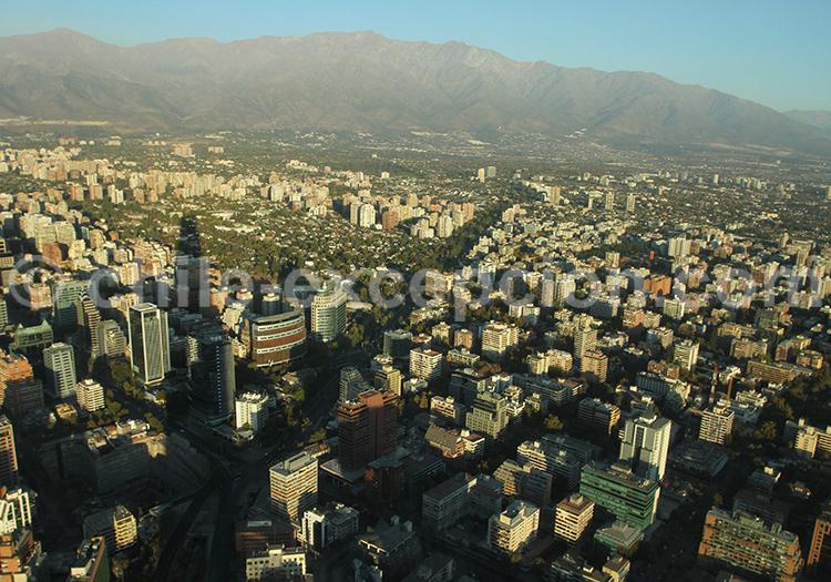 Vue panoramique de providencia, tobalaba, Santiago de Chile