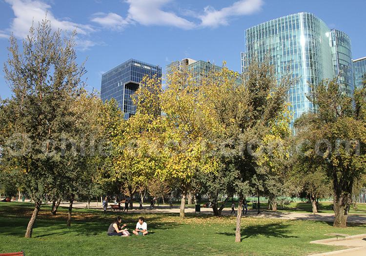 Se détendre dans le Parc Araucano, Santiago de Chile
